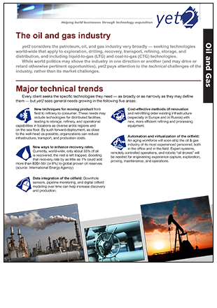 oil and gas industry document